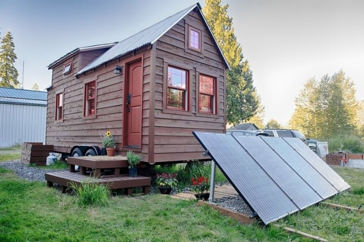 tiny home, solar panels, going green