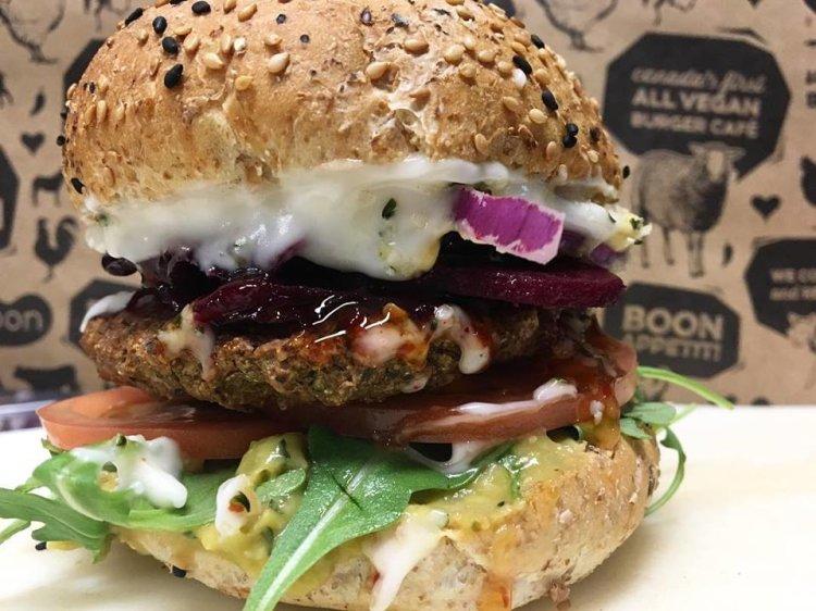 Boon Burger Burlington, Sustainable, Vegan Food,