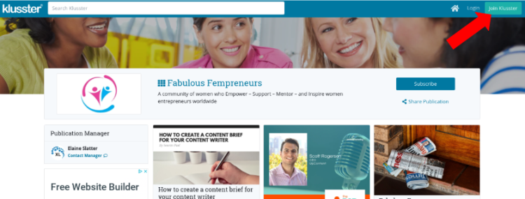 Getting started with Klusster:  Fabulous Fempreneurs