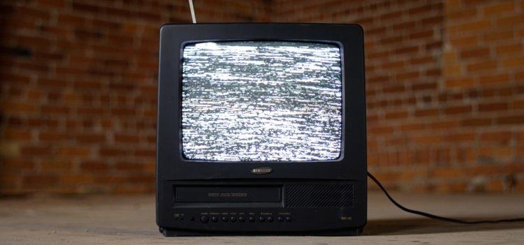 white noise, static, tv, television, television set
