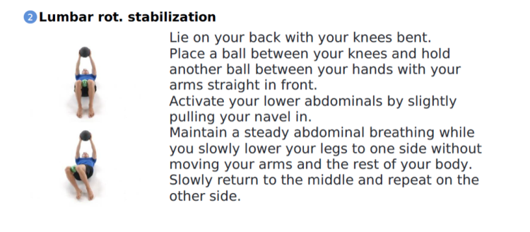 Lumbar Rotation Stabilization Mainway Physiotherapy Golfing Golf Exercises Golf Injury Golfers Elbow