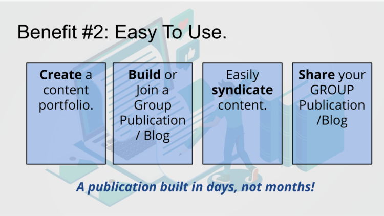 easy, platform, group, blog, publication