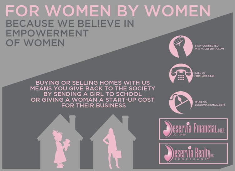deservia, deservia realty, deservia financial, women