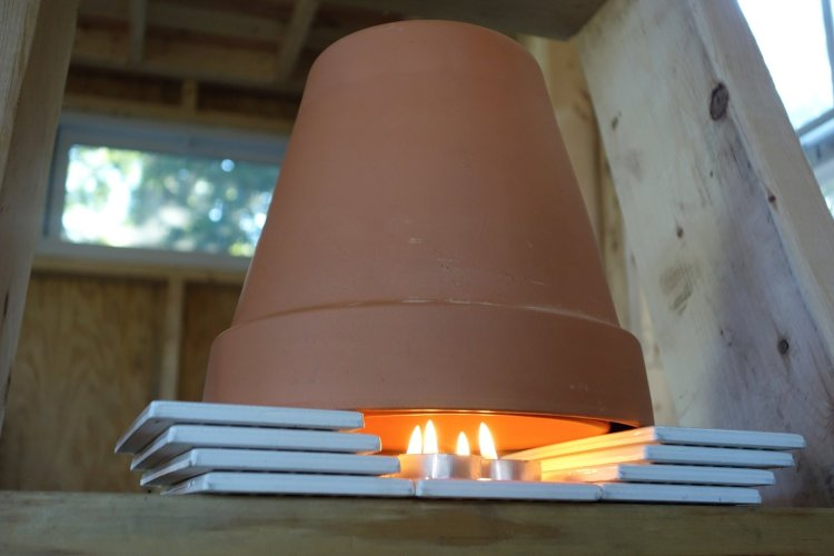 terracotta heater, tiny home, tiny home movement