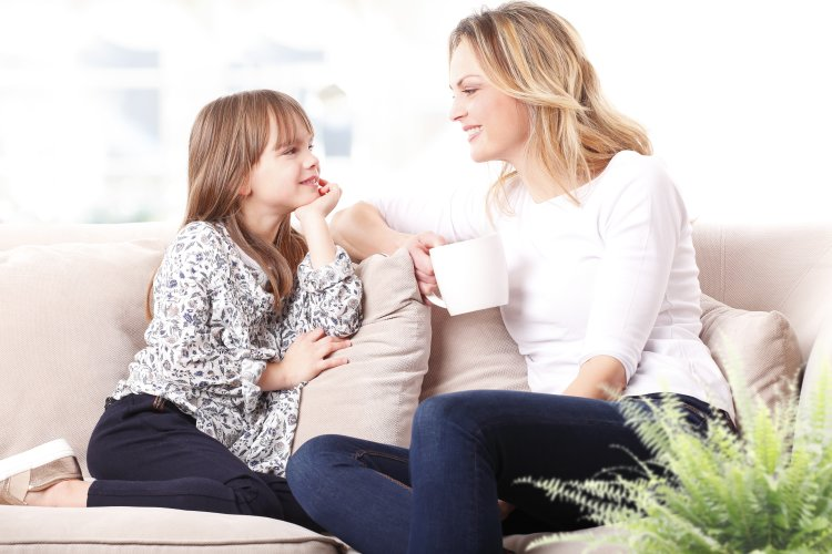 woman, mom, daughter, talking, happy, mother-daughter, conversation