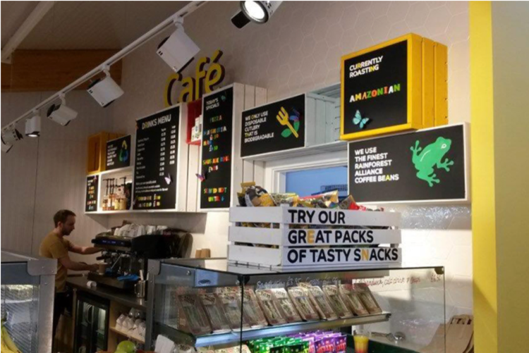 pizza union shop interior commerical signs