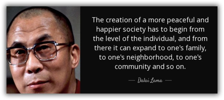 Dalai Lama, peace begins with the individual