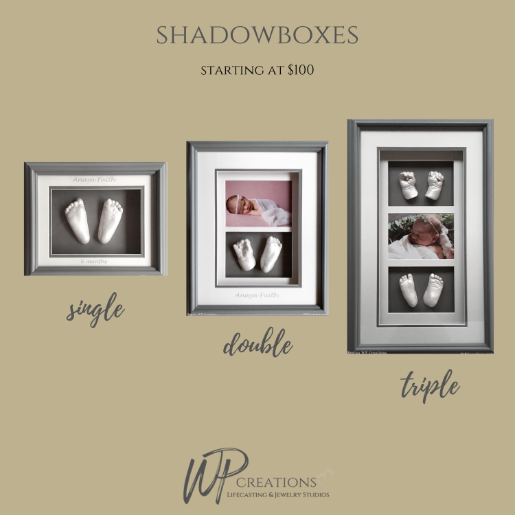 #lifecasting #shadowboxes #babyhands #babyfeet #keepsakes