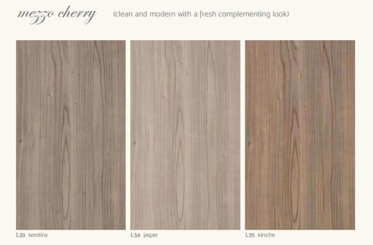 Mezzo Cherry - clean and modern with a fresh complementing look