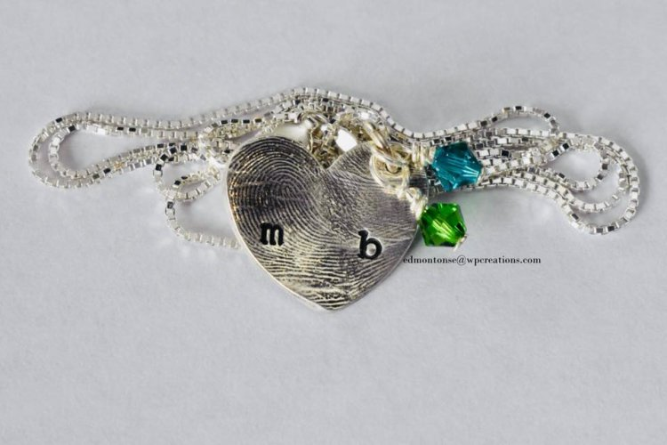 #silver #pendants #keepsakes #birthstone #baby #fingerprints