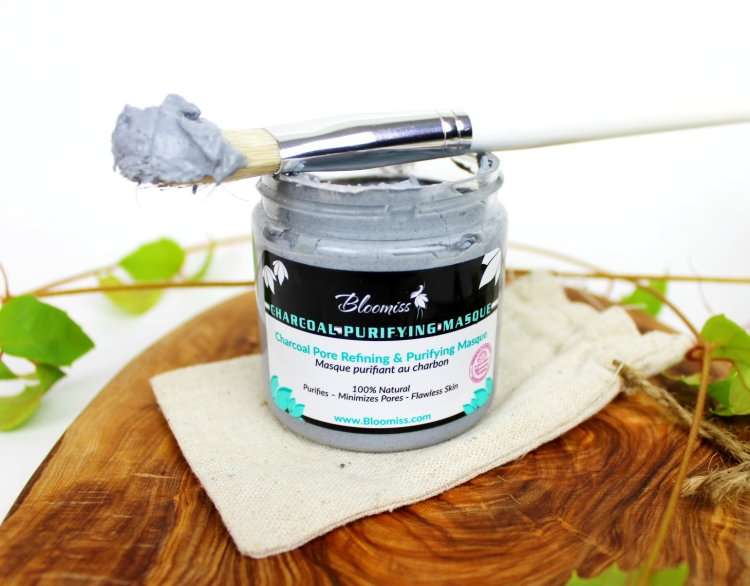 Charcoal face mask, aloe vera face mask, activated charcoal skincare
