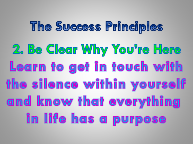 Jack Canfield, success principles, #2