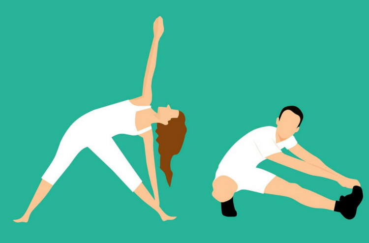 stretching, cool down, fitness, exercise, weight loss
