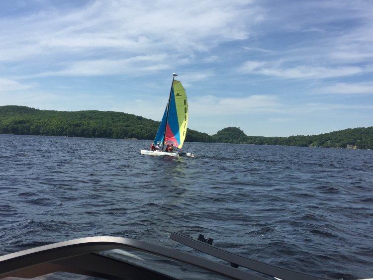 Muskoka, lake, vernon, sailing