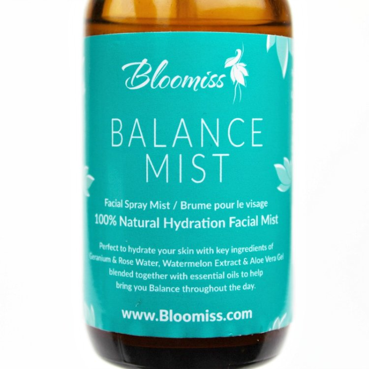 Balance mist with aloe vera gel, facial mist with aloe