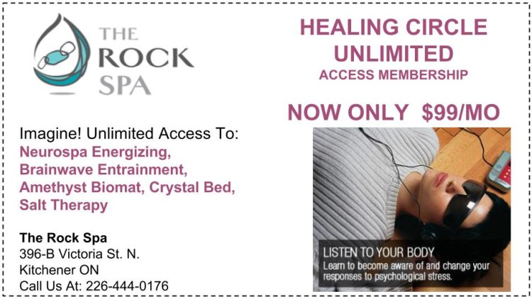 the rock spa, healing circle unlimited access, neurospa, brainwave