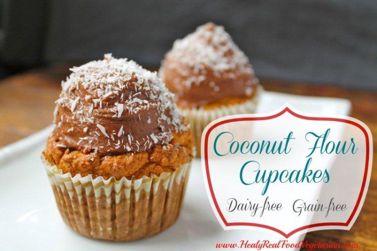 coconut flour cupcakes, dessert, coconut flour, paleo recipes