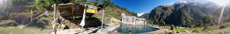 Hot Water springs at Kheerganga, India