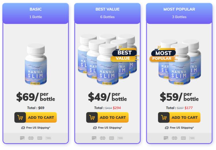 Manna Slim supplement Price