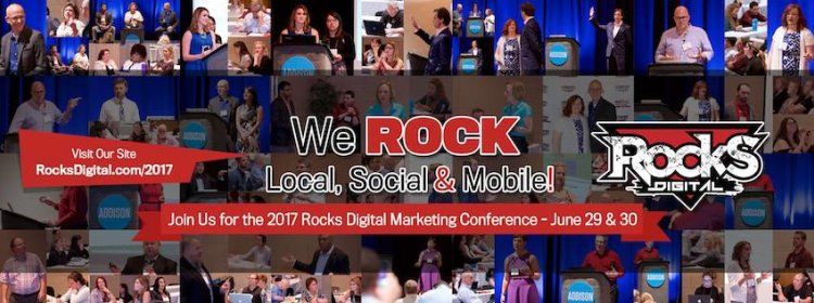 2017 Rocks Digital Marketing Conference in Addison, Texas on June 29 & June 30.