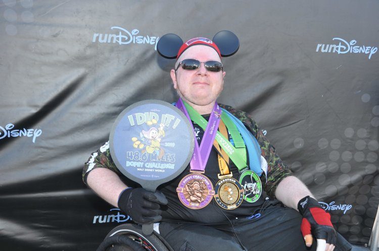 Dopey  Run Disney Mike Greer wheelchair  athlete  accessibility I did it