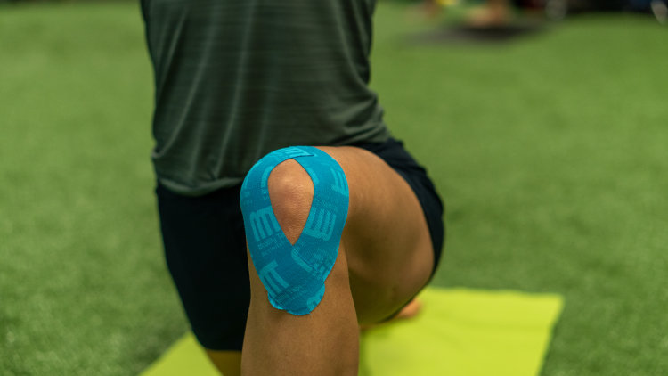 Knee pain, kinesio tape, tape for knee
