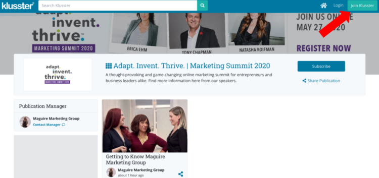 Getting Started with Klusster:  Adapt. Invent. Thrive.
