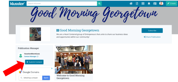 Getting Started With Klusster: Good Morning Georgetown