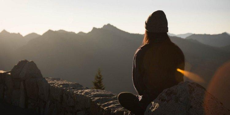 Meditating, why girl