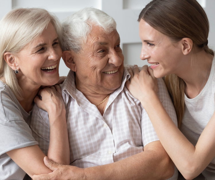 Aging parents, daughter of aging parents