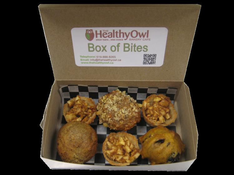 Healthy Owl, Box of bites