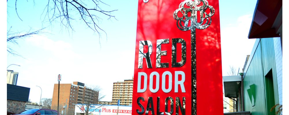 Come Inside The Red Door Hair Salon