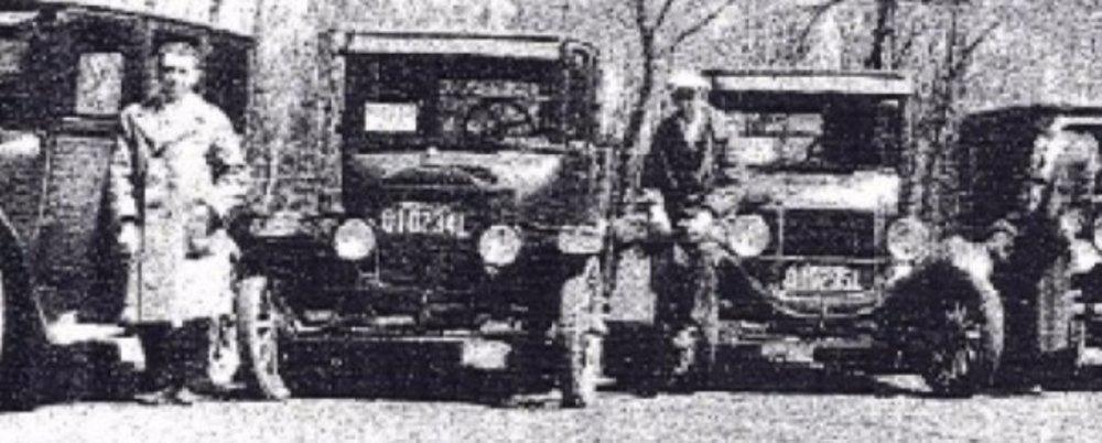Local Cab Service, circa early 1900's
