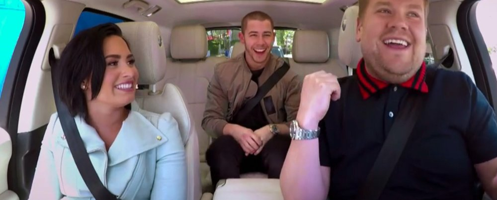 Carpook Karoke : Demi Lovato, Nick Jonas & James Corden