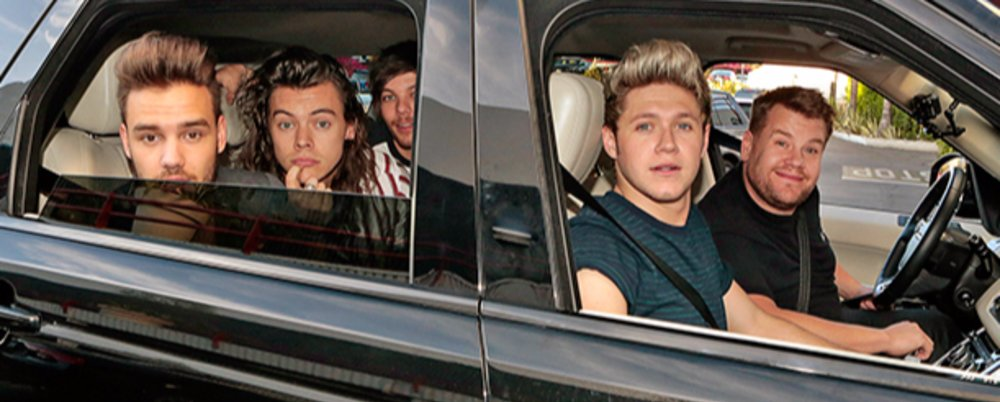 Carpool Karoke: James Corden with One Direction