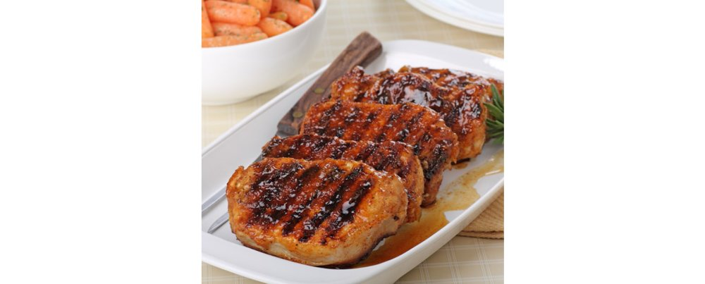 Coconut Jam Pork Chops