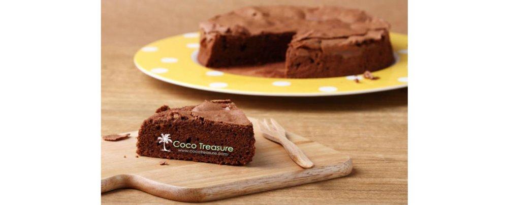 Luscious Coconut Chocolate Cake