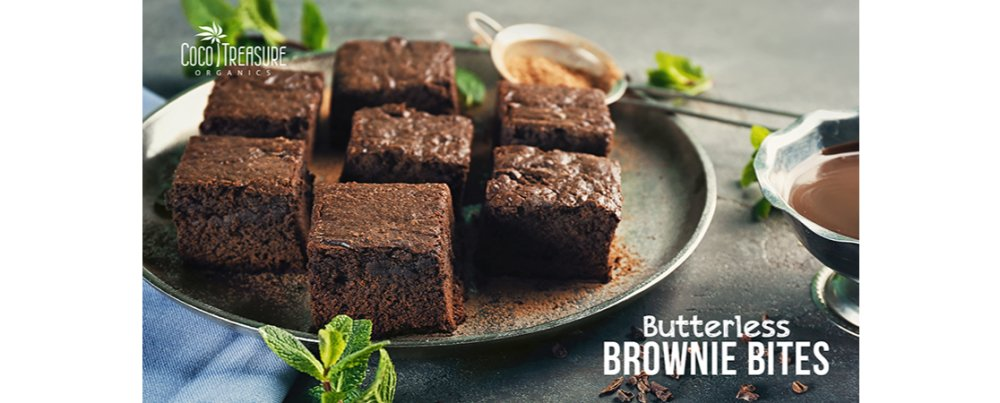 Butterless Brownie Bites