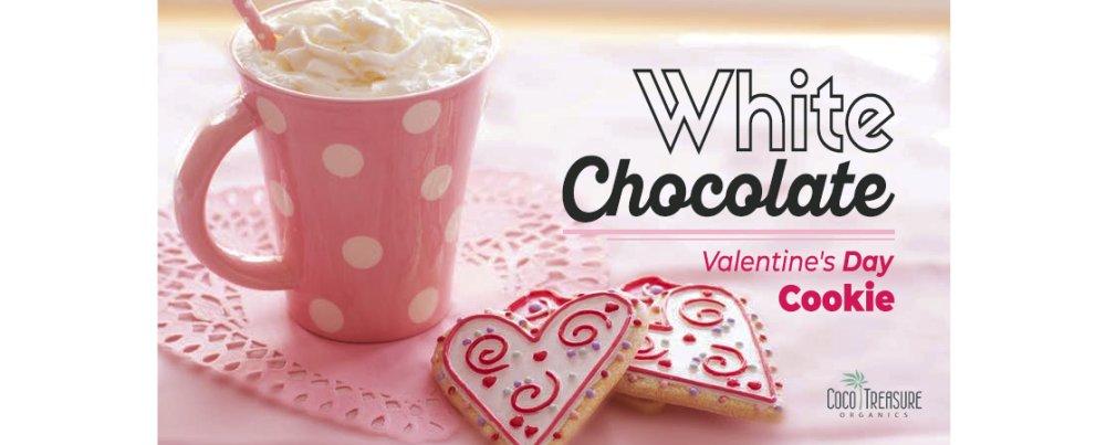 White Chocolate Valentine's Day Cookie