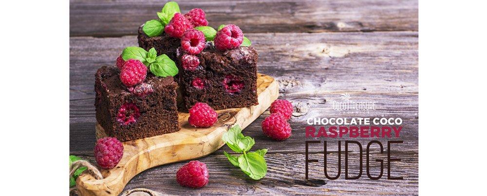 Chocolate Coco Raspberry Fudge
