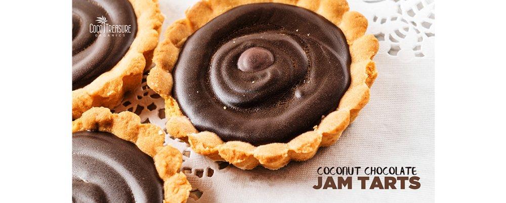 Coconut Chocolate Jam Tarts
