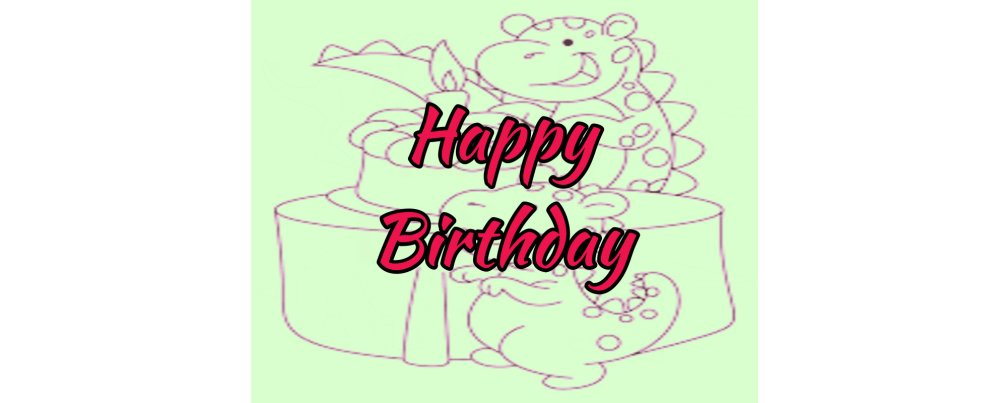 Birthdays Card to color from Dinosaur Coloring Pages For Kids