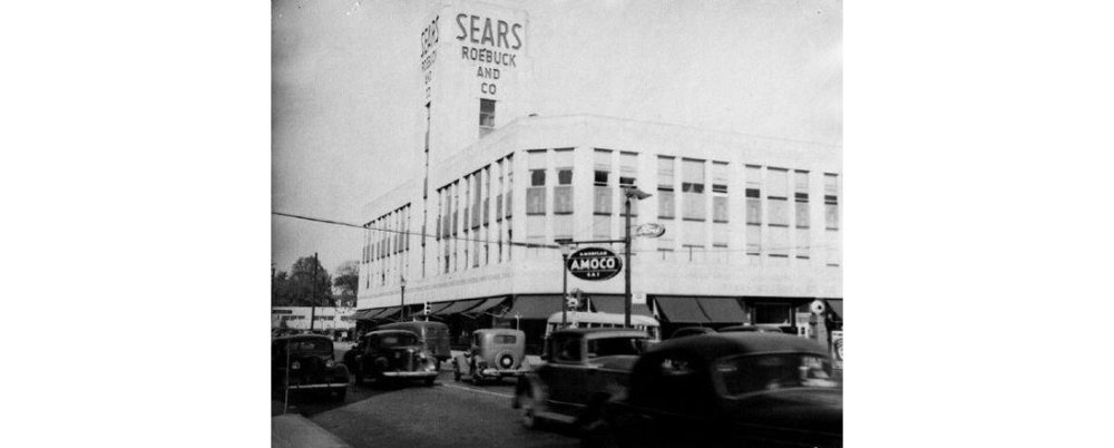 There Across the Street from Sears on Main Street