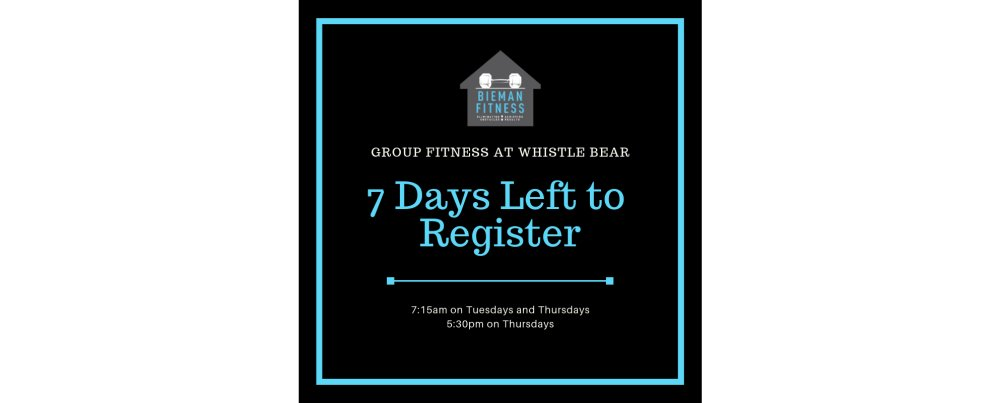 Bieman Fitness Group Training @ Whistle Bear