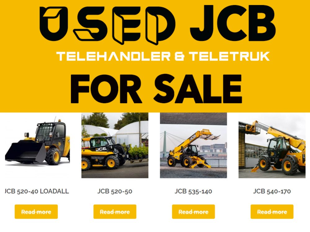 Used JCB Telehandler & Teletruk for Sale