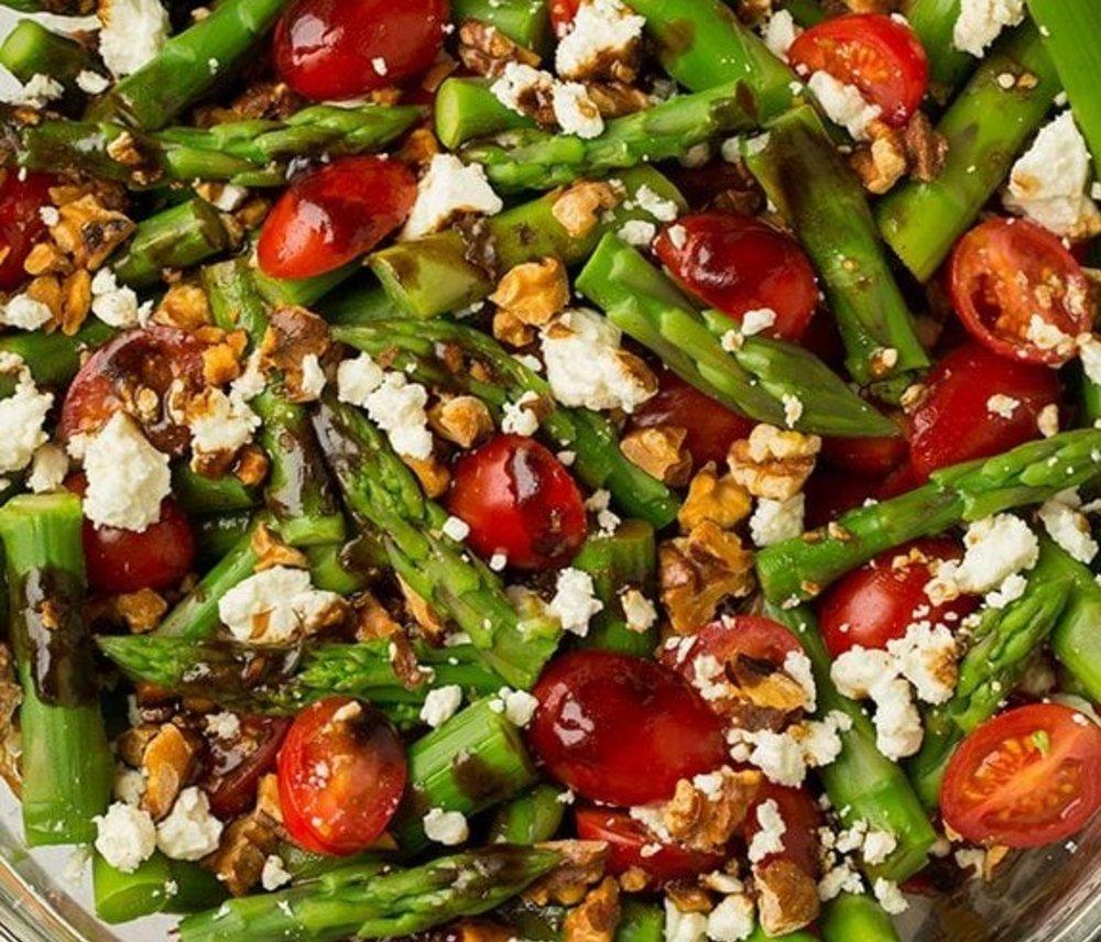 Asparagus, Tomato & Feta Salad