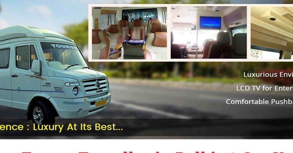 Air Conditioner Tempo Traveller Hire service in Delhi NCR