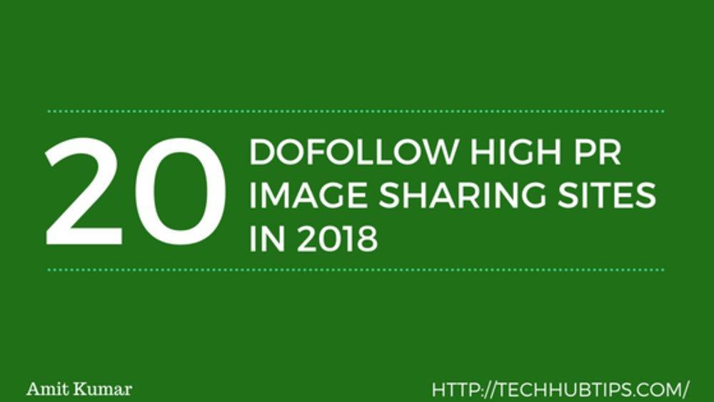 FREE IMAGE SHARING SITES LIST 2018