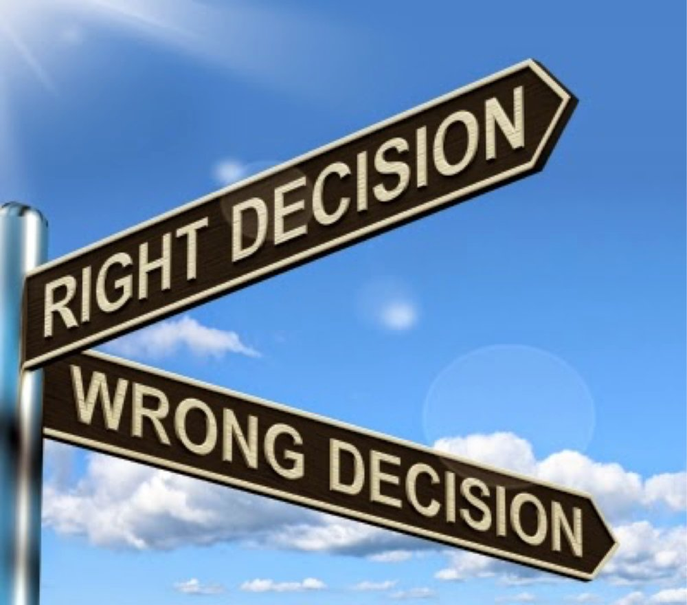 Wrong decisions - are they always mistakes?