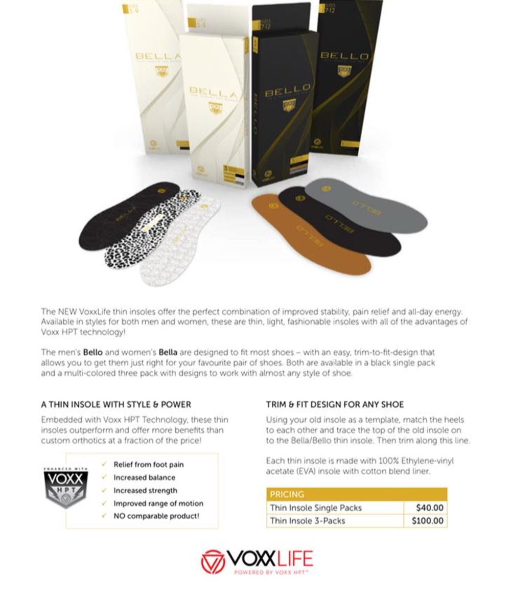 Bella and Bello thin insoles are here